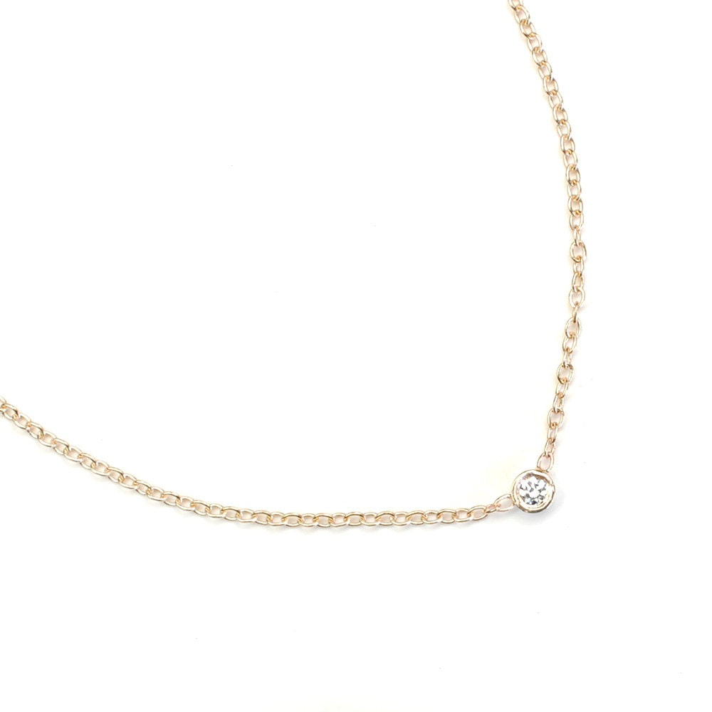 Diamond necklace solitaire necklace diamond solitaire zoom aloadofball Images