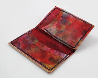 Tie-Dyed Leather Bifold Wallet