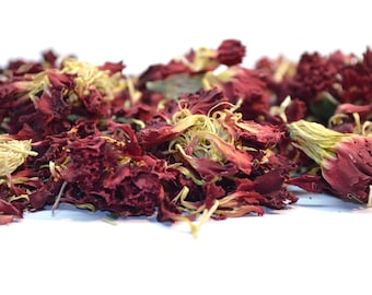 Carnation Flowers 5g - 50g Dried, Rabbit Treat, Reptile, Chinchilla, Tortoise Food Supplies, Degu, Guinea Pig, Hamster, Dried Petals