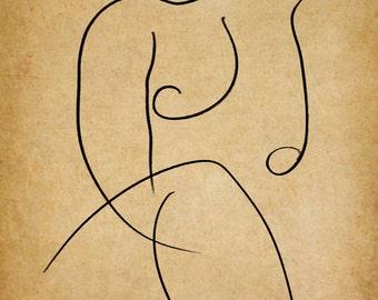 Simple, A Gestural Drawing.