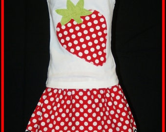 Strawberry Outfit for Girls, Strawberry Birthday Outfit, Strawberry Shirt, Strawberry Shortcake Birthday, Strawberry Outfit Little Girls