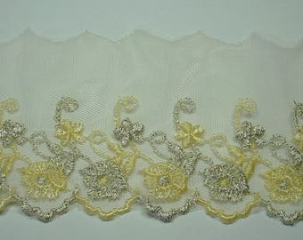 YELLOW TULLE LACE AND GOLD COUPON