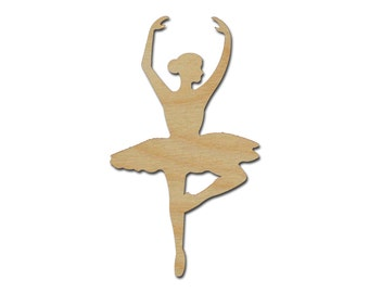 Ballerina Shape Unfinished Wood Craft Cutouts Variety of Sizes Artistic Craft Supply