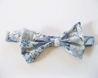 Schiffe sofort, blau Trauzeugen Fliege, Liberty Print von London Krawatte, Fliege, blaue Blumen Druck Krawatte, Krawatte benutzerdefinierte Trauzeugen