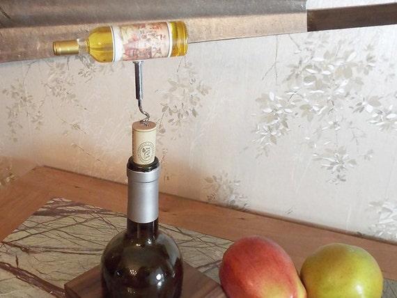 19 - Cork Screw Miniature Wine Bottle (white)