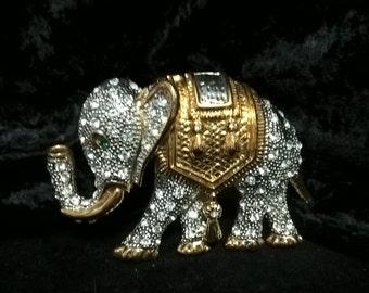 Elephant Brooch or Lapel Pin