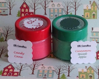 Handmade scented candles. Christmas candles in assorted fragrances.