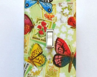 Butterfly switchplates & MATCHING SCREWS- Butterfly wall plates butterfly wall decor butterfly switch covers butterfly light switch covers