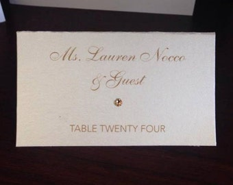 Place Cards Wedding Place Cards Folded Place Cards Seating Cards