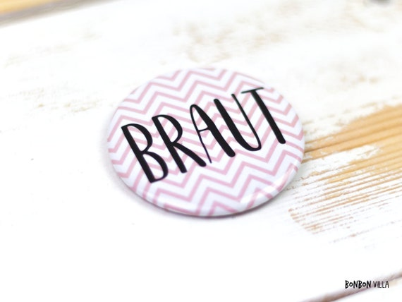 "Button ""Braut"""
