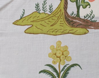 "Raoul Textiles ""Mandarin"" Hand Printed Linen Drapery Panels'"
