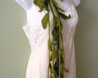 Vines Lariat Scarf Crochet Pattern PDF - permission to sell what you make