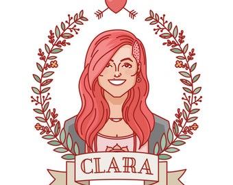 Custom portrait, Custom illustration, Portrait drawing, Portrait painting, Girlfriend gift, Personalized illustration, Portrait cartoon