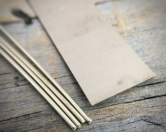 Sterling Silver Solder Wire Or Sheet Jewelry Supplies