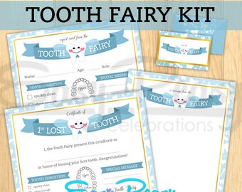 Customizable Tooth Fairy Kit - Certificates, stationary and envelope