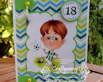 INSTANT DOWNLOAD Digital Stamps, Digi Stamps, Coloring Pages, Digital images, Boy stamps, Sport, Black lines, Crafting. Football