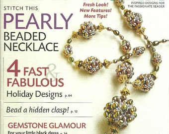 Bead Work December 2008 January 2009 Jewelry Magazine Like New  projects Volume 12