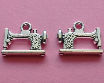10 Sewing Machine Charms Silver - CS2261