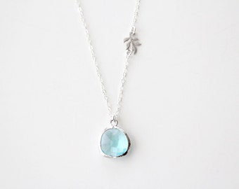 Something New and Blue Necklace - Silver - SALE