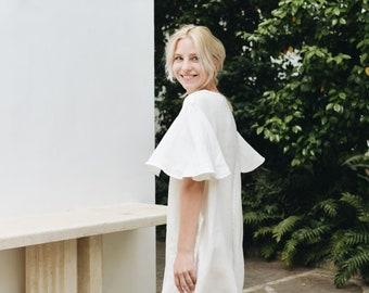 Linen dress/ Summer dress/ Loose linen dress/ Soft linen dress/ Swing dress/ Wedding dress #42 LIMONA