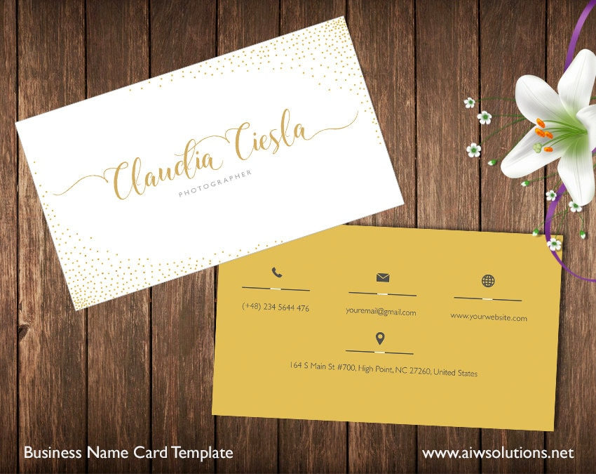 Fashion Business Card Template Name Card Template