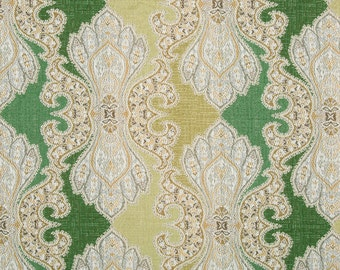 Contemporary Green Damask Upholstery Fabric - Modern Furniture Upholstery Fabric - Lime Green Fabric - Green Damask Pillow Covers