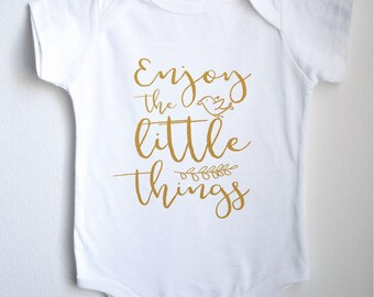Enjoy The Little Things Baby 1sie One-piece Bodysuit