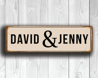 CUSTOM WEDDING COUPLE Street Sign, Personalized Wedding Couple Sign, Vintage style Wedding Couple Street Sign, Wedding sign, Wedding Decor