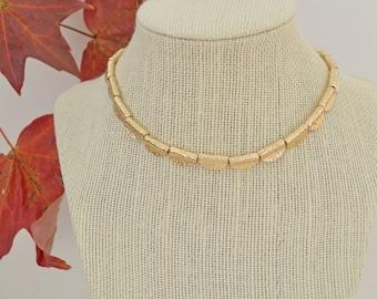 Gold & Gun Metal Black Small Dainty Scalloped Choker Layer Necklace