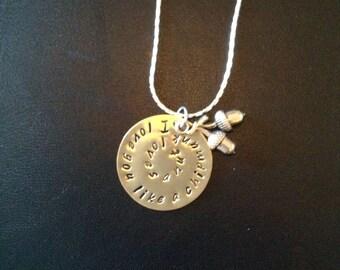 Love you like a nut necklace