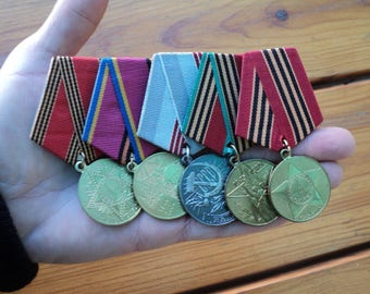 5 pieces Old Medals of the USSR, medals World War II, military collection, Victory, USSR