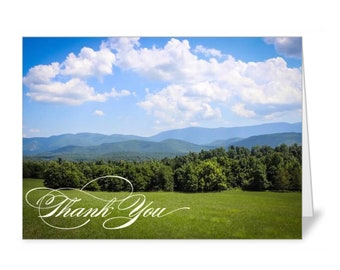 Mountain View Thank You Card