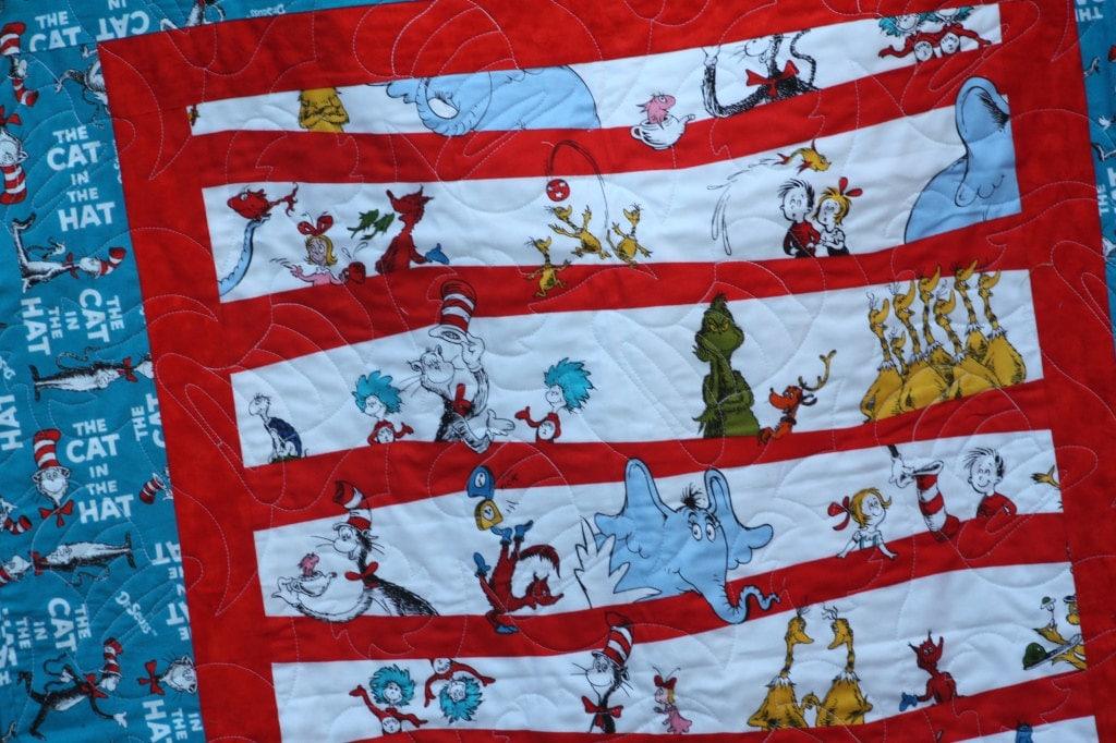 Dr Seuss Twin Bed Quilt Toddler Bedding Seuss Twin Bedding : dr suess quilt - Adamdwight.com