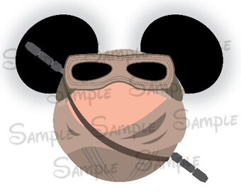 Rey  inspired Character Mouse head DIGITAL printable file DIY