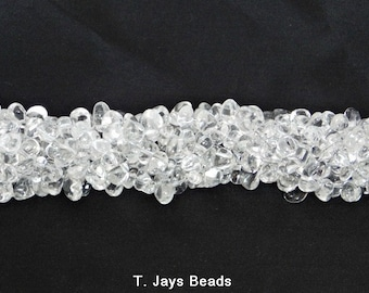 Crystal Drop Style Chip Beads - 5x8mm