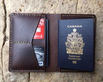 Leather passport holder/ passport cover/ travel wallet/ personalized gift/ passport case/ field notes cover/ birthday gift