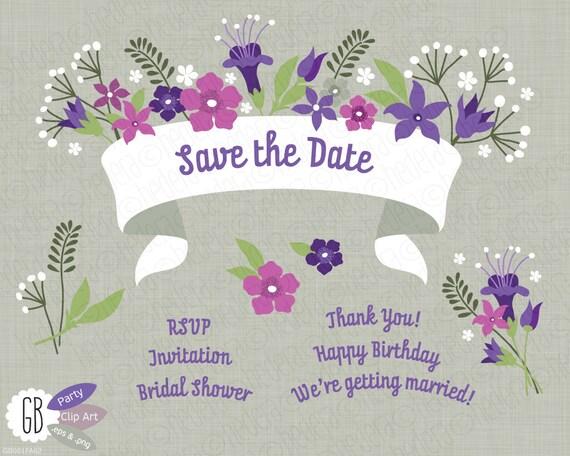 Folk flowers invitation ribbon vector clip art card label wedding folk flowers invitation ribbon vector clip art card label wedding party from grafikboutique on etsy studio stopboris Gallery