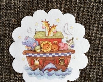 Noah's Ark Baby Shower Party Favor, Gift or Treat Tags