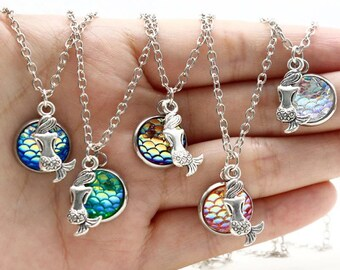 Summer Mermaid Scales Necklace