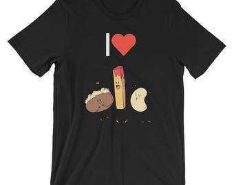 I Love Potatoes Vegetable T-shirt Funny Foodie Tee