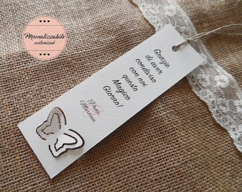 Wedding Placeholder Thanksgiving. Customizable Wedding bookmark. They remember marriage.