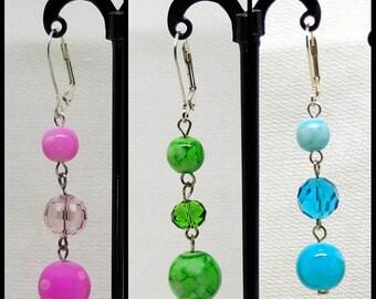 Hi Spring! Colorful Bead Dangle Earrings