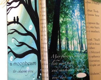 Irish Blessing and Celtic Enchantments bookmark, image of original altered photography or artwork