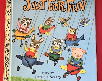 Little Golden Book, Richard Scarrys, Just For Fun, Story By Patricia Scarry