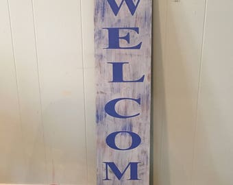 Rustic Flower Welcome Sign