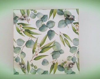 Eucalyptus leaves Flower press, pressed flowers, floral leaf herb press