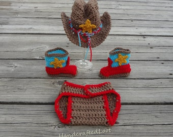 Rainbow cowboy outfit, multicolor cowboy outfit, crochet cowboy costume, baby cowboy costume, cowboy outfit, cowboy photo prop, crochet baby