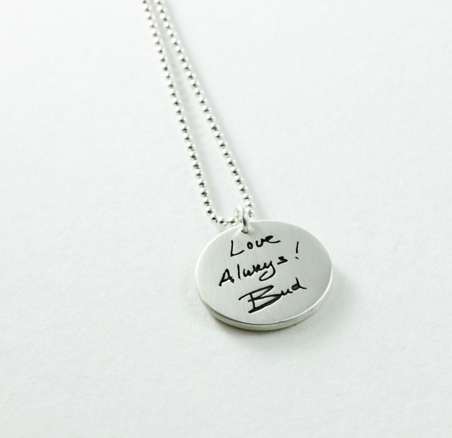 actual you silver made for your pendant loved writing ones memorial jewelry order to pin