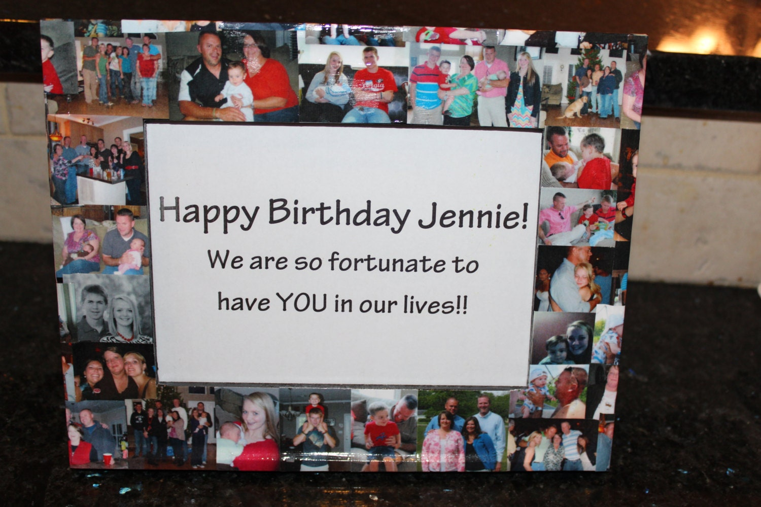 Unique Birthday Gift Personalized Birthday Frame Custom