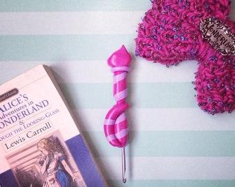 Cheshire Cat Inspired Crochet Hook
